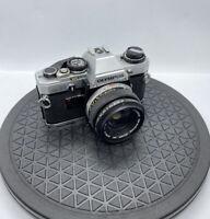 Olympus OM 10 35mm SLR Film Camera & Zuiko Auto-S 1:1.8 50mm Lens [FULLY TESTED]