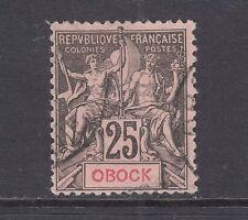Obock Sc 39 used 1892 25c black on rose Navigation & Commerce