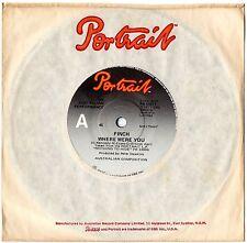 """FINCH - WHERE WERE YOU - RARE 7"""" 45 VINYL RECORD - 1977"""
