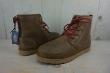 UGG HARKLEY 1017238  WATERPROOF LACE UP GRIZZLY LEATHER BOOTS MENS US 9 NIB