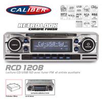 Autoradio Vintage Look Retro Chromé CD/USB/SD RCD120 Caliber