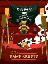 "Not Mondo Poster Print The Simpsons ""Kamp Krusty"""" variant"