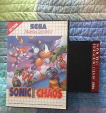 SONIC THE HEDGEHOG CHAOS Sega Master System