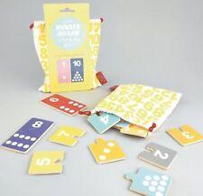 Nwt Wooden Number Jigsaw A Handy Bag Of Fun! 20Pcs Jigsaw Game By Floss & Rock