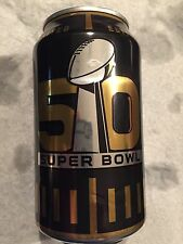 2015 BUD LIGHT NFL 50th SUPER BOWL LIMITED EDITION CAN. 2016 SUPER BOWL 50 CAN.