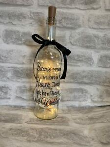 Because Someone We Love Is In Heaven At Our Wedding  Light Up Wine Bottle