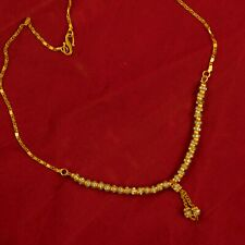 Indian Traditional Gold Plated Necklace Chain Cubic Zircon Chain Fashion Jewelry