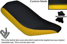 BLACK & YELLOW CUSTOM FITS BASHAN 200 QUAD DUAL LEATHER SEAT COVER ONLY