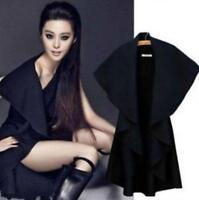 2017 Women Hot Cashmere Blend Cape Coats Wool Poncho Korean Loose Coats Chic New