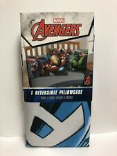 """Marvel's Avengers Standard 20""""x30"""" Reversible Pillowcase NEW!"""