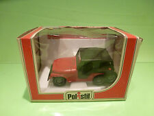 POLISTIL S 673 S673 JEEP CJ5 - RED 1:25 - VERY GOOD CONDITION IN BOX