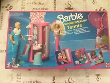 années 80/90 BARBIE SPORTS CLUB TENNIS ORIGINALE EXPANSION JEU (VOIS NOTE