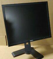 "19"" Dell 1908FPB Series LCD Monitor VGA DVI USB Hub w/Stand Video & Power Wires!"