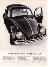 1962 VW VOLKSWAGEN BEETLE  ~  CLASSIC ORIGINAL PRINT AD