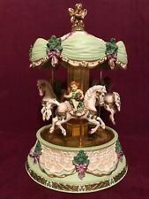 "Retired Franklin Mint ""Fairies of the Emerald Isle"" Musical Carousel Tested"