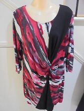 CAPTURE EUROPEAN SIZE 44 AUS 14 BLACK RED TWIST KNOT DRESS 'PERFECT'