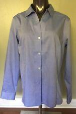 ANNE KLEIN $69 Fresh Blue Non-Iron Cotton Long Sleeve Shirt Size L