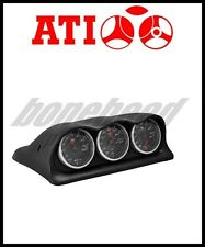 ATi Triple Meter Center Dash Gauge Pod 2003-2006 Mitsubishi Lancer EVO 8 & 9