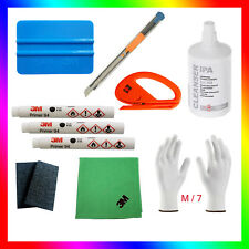 3x ORIGINAL 3M Primer 94+Felts+3M cloth+ IPA+ 2x cutters+Wrap Gloves M/7 & other