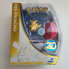 POKEMON Pikachu Figure TOMY #025 20th Anniversary Limited Edition with Pokeball