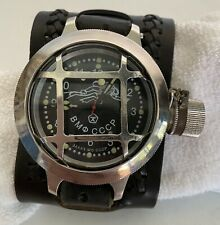 Russian Military Diver Mechanical Diving Watch Soviet Navy USSR 59 mm  THE RAVEN