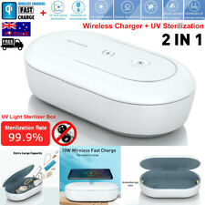 Cellphone Jewelry UV Ozone Sterilizer QI Wireless Charger Virus Disinfection Box