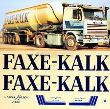 SCANIA 142M faxe-kalk NILS Larsen SPEDIZIONE 1:87 decalcomania per autocarro
