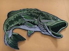 "Vintage BIG MOUTH BASS FISH 6"" PATCH"