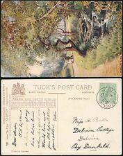 SCOTLAND BLAIR ATHOLL 1907 POSTMARK...PPC TUCKS OILETTE BIRNAM GLEN
