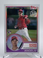 Shohei Ohtani 2018 Topps Silver Pack 1983 Chrome Refractor Rookie Card QTY