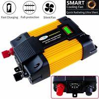 Power Inverter 4000W/6000W Peak DC 12V to 110V AC Converter Adapter Car Charger