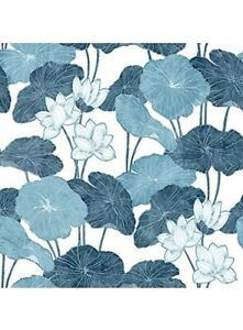 "RM Peel & Stick Wallpaper. Blue Lilly pad. Brand new sealed item. 20.5"" X 16.5ft"