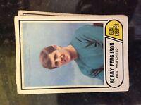 m17c4 trade card 1960s abc a&bc football no 32 bobby ferguson