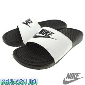 NWT Nike Benassi JDI White Black Men's Slides slide 9 - 14 flip flop 100