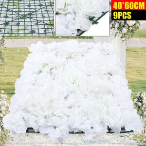 40*60cm fleur artificielle rosehydrangea Mur Panneau Mariage Background Backdrop