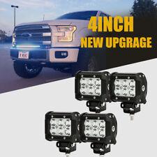 4x 4inch 18W Cree Flood Led Work Light Fog Reverse Cube Pods Offroad SUV ATV UTE