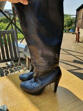 WORN Size 6 Faith Knee High Black Boots