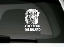 Cockapoo On Board, Car Sticker, High Detail, Great Gift For Dog Lover