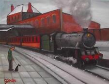5 heures sort: original Nord Art Peinture à l'huile sur toile par cosa