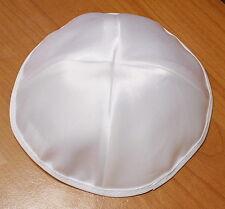 Lot of 3 WHITE Satin Kippah Jewish Kippa Kipa Yarmulke Israel Hat High Quality