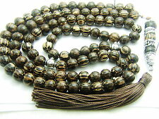 8mm x 99 OLD PALMWOOD PRAYER BEADS ISLAMIC TASBIH MASBAHA QURAN GIFT