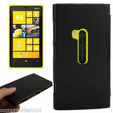 Cubierta De La Caja Flip Cartera Negro Para Nokia Lumia 920