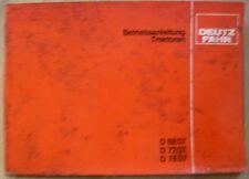 Deutz Fahr Schlepper D6807 + D7207 + D7807 Anleitung