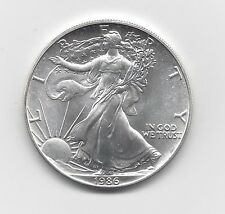 1986 - 1 oz American Silver Eagle Coin - One Troy oz .999 Bullion