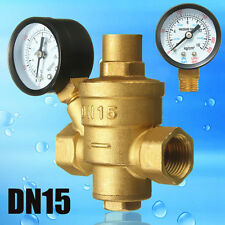 1/2''Dn15 Bspp Brass With Gauge Flow Adjustable Water Pressure Reducing Valve