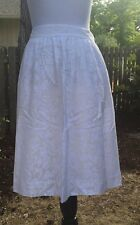 NWT J Crew A-line Patio Skirt In Linen Item # a6299 Size 8 White $128