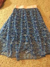 Lularoe Blue Lace Lola Skirt Sz Xs Nwot