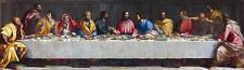"""perfect 96x24 oil painting handpainted on canvas""""The last supper""""N7080"""