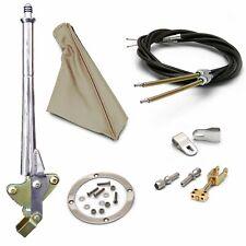 "16"" Trans Mnt E-Brake HandleTan Boot, Chr Ring, Cable Kit, GM Clevis"" rod hot"