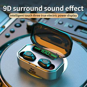 LED Bluetooth 5.0 Headset  Earphones Noise Reduction WirelessEarbuds Headphone
